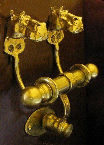 HIPPOPOTAMUS, HIPPO Bronze DUET Door Knocker