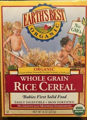Earth s Best Organic Infant Cereal Whole Grain Rice -8 Ounce Exp-01/05/2021 - $11.95