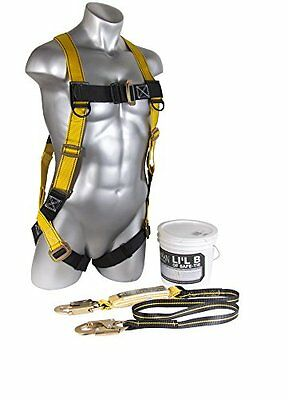 Guardian Fall Protection 00870 Li'l Bucket of Safe-Tie with HUV, Shock Absorbing