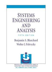 Systems Engineering And Analysis 5E Global Edition