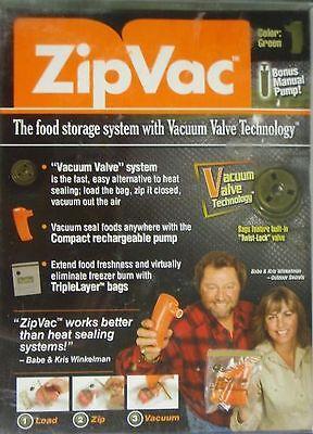 Zip Vac Zipvac Food Storage Fishing Hunting Ice Orange