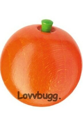 "Lovvbugg Wood Orange Play Food for Child n 18"" American Girl Doll Accessory"