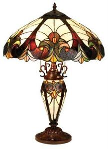 Stained glass lamp shade ebay stained glass table lamp shades mozeypictures Image collections