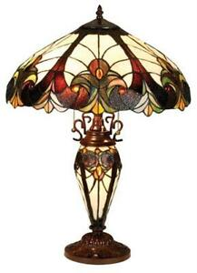 Stained glass lamp shade ebay stained glass table lamp shades mozeypictures Choice Image