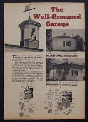 2 CUPOLA / Birdhouse Design PLANS 1951 How-To build INFO