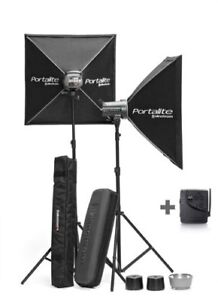 2 Ensemble de flash Elinchrom D-Lite RX 4/4 ( 4 têtes )