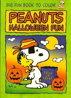 Halloween Fun Pages (Peanuts Big Fun Book to Color ~ Halloween Fun (96 Pages) by)