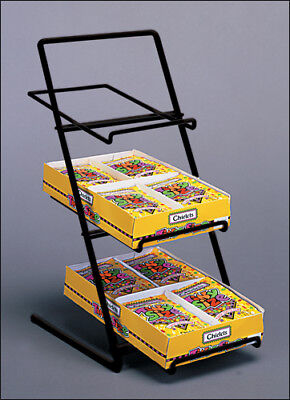 Counter Candy Gum And Snack Display Rack - Slant Back Black