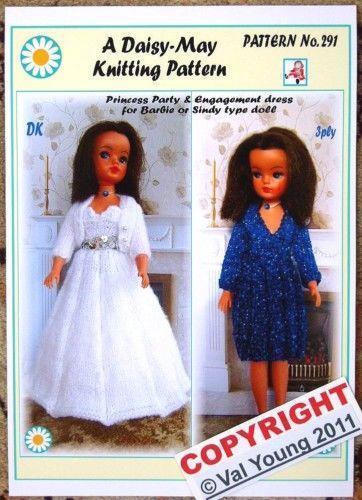 Dolls Dress Knitting Pattern Ebay