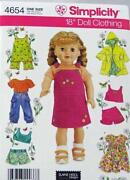 18 inch Doll Clothes Patterns