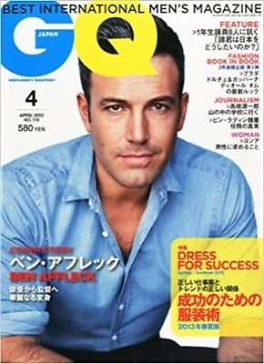 GQ Japan 2013 4 Apr Men's Fashion & Lifestyle Magazine BEN AFFLECK DRESS