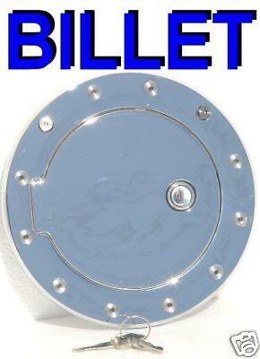 Locking Billet Chrome Fuel Door for 97 98 99 01 02 03 04 05 06 Jeep Wrangler TJ  Billet Locking Fuel Door