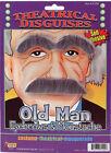 Old Man Gray Costume Eyebrows Hair