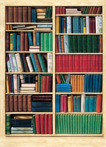 Bookshelf wallpaper ebay for Bookcase wallpaper mural