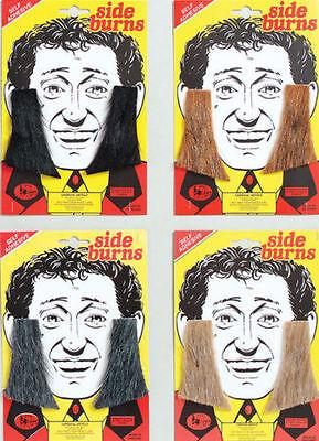 50's 60's 70's Teddy Boy Fake Stick On Sideburns Noddy Holder Fancy Dress  - Fake Sideburns