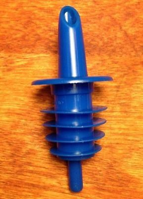48 Count Blue Free Pour Liquor Bar Bottle Pourers Plastic Home Bar