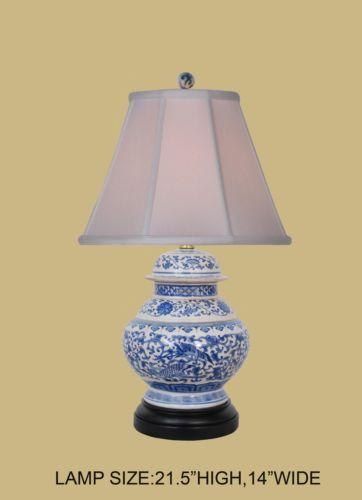 Blue And White Table Lamp Ebay