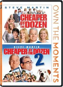 CHEAPER BY THE DOZEN 1 & 2 New Sealed DVD Steve Martin