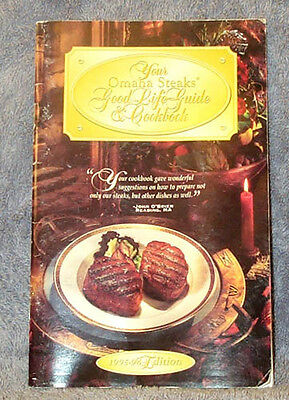 Omaha Steaks Good Life Guide   Cookbook 1995 1996 Edition Great Recipes Free Shp