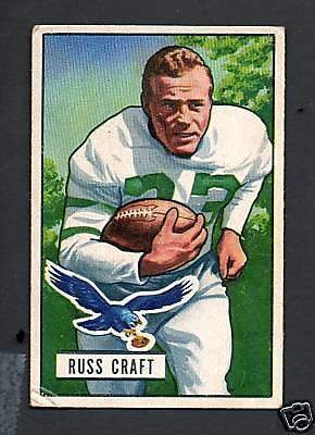 1951 Bowman Football Card #47 Russ Craft-Philadelphia Eagles
