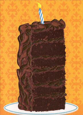 A Slice Of Cake - Tall Slice Of Cake A*Press Birthday Card - Greeting Card by Avanti Press