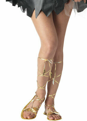 Adult Gold Goddess Sandals for Halloween Costume - Goddess Costumes For Adults