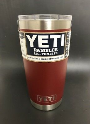 Authentic Yeti 20Oz Tumbler Brick Red  Stainless Steel  New