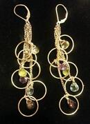 Gold Leverback Earrings