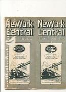 New York Central Timetable