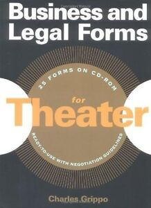 NEW - Business and Legal Forms for Theater