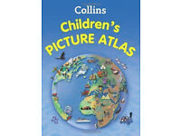 New 120x Collins Childrens Picture Atlas Hardcover Book World Map JOBLOT WHOLESALe £1078