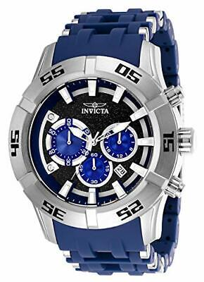 Invicta Men's Sea Spider Chronograph Quartz SS and Polyurethane Strap Watch