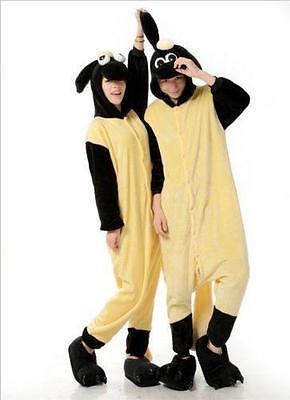USA!!Hot!!! Adult Fleece Unisex The Sheep Cosplay Costume Sleepwear  Pajamas JIA - Sheep Adult Costume
