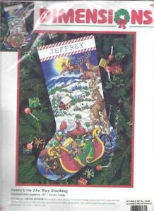 dimensions cross stitch christmas stocking kit
