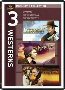 LAWMAN + KENTUCKIAN + THE UNFORGIVEN New DVD 3 Westerns