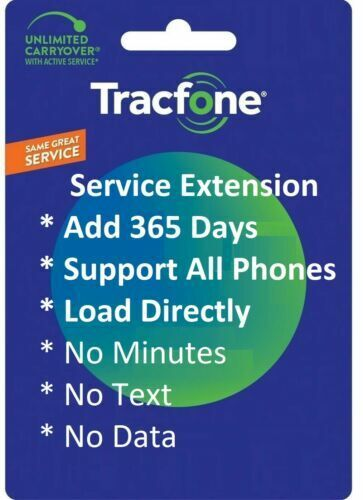 TracFone Service Extension 1 Year/365 days Digital Refill