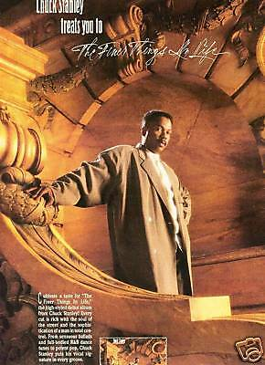 CHUCK STANLEY Finer Things In Life 1987 PROMO POSTER AD