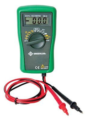 Greenlee Dm-25 Catiii 600v Manual Ranging Digital Multimeter
