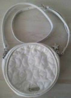 MIMCO  WHITE LEATHER METEOR CIRCLE ACROSS BODY BAG NEW WITH  TAGS