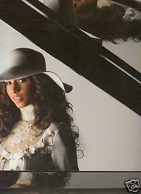 ALICIA KEYS Photo Promo Poster Ad REFLECTION IN PIANO