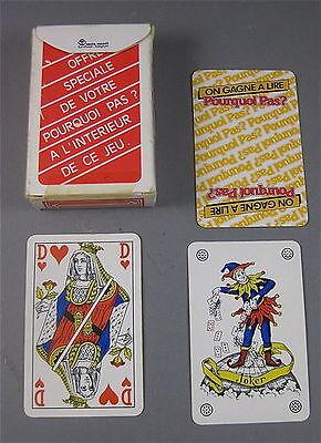 JEU DE CARTES PUBLICITAIRE STANDARD 1 x 54 PIÈCES , POURQUOI PAS