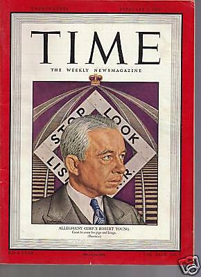 Time Magazine Alleghany Corps Robert Young 1947
