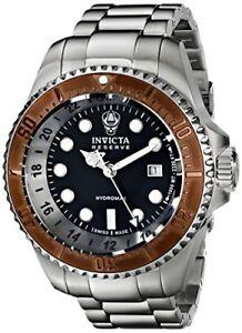 Invicta Men's 52mm Reserve Quartz 3 Hand Black Dial Watch-16972