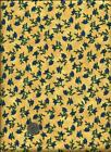Yellow Blue Floral Fabric