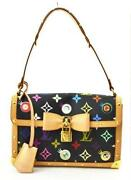 Louis Vuitton Black Multicolor Monogram
