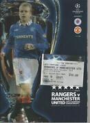 Glasgow Rangers Football Programmes