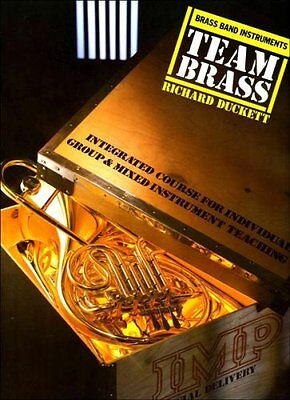 TEAM BRASS  Brass Band Instruments  ( slightly creased cover )