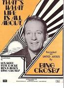 Bing Crosby Sheet Music