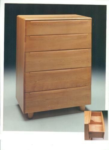 heywood wakefield kohinoor bedroom set maple furniture dresser vintage