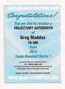 Greg Maddux Auto